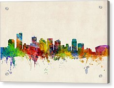 Phoenix Arizona Skyline Acrylic Print by Michael Tompsett