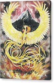 Phoenix Acrylic Print by Charity Goodwin