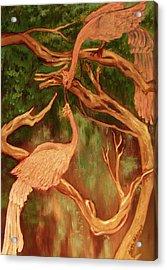 Phoenix-dares To Love Again Acrylic Print by Beth Arroyo