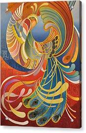 Phoenix Acrylic Print by Ousama Lazkani