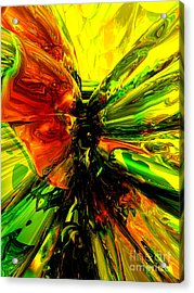 Phoenix Rising Abstract Acrylic Print by Alexander Butler