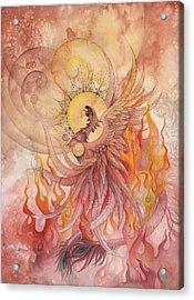 Phoenix Rising Acrylic Print by Ellen Starr