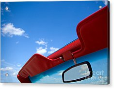 Photo Of Convertible Car And Blue Sky Acrylic Print by Paul Velgos