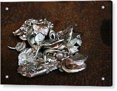 Photo Of Mixed Metal Sculpture Acrylic Print by Matthew Brzostoski