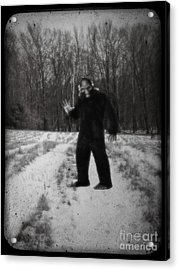 Photographic Evidence Of Big Foot Acrylic Print by Edward Fielding