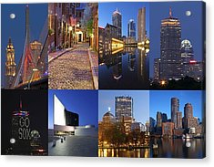 Photos Of Boston Acrylic Print by Juergen Roth