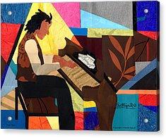 Piano Man Acrylic Print by Everett Spruill