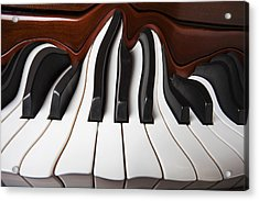 Piano Wave Acrylic Print by Garry Gay