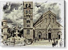 Piazza Del Duomo Acrylic Print by Maria Coulson