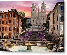 Piazza Di Spagna Acrylic Print by Dominic Davison