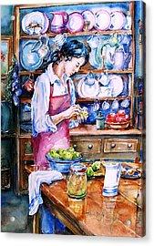 Pickling Pears  Acrylic Print by Trudi Doyle