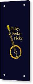 Picky Banjo Acrylic Print by Jenny Armitage