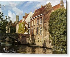Picturesque Bruges Acrylic Print by Juli Scalzi