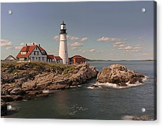 Picturesque Portland Head Light Acrylic Print by Juergen Roth