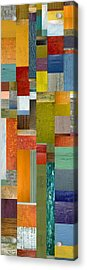 Pieces Parts Lll Acrylic Print by Michelle Calkins