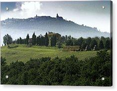 Pienza Tuscany Acrylic Print by Al Hurley