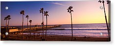 Pier In The Pacific Ocean, San Clemente Acrylic Print by Panoramic Images