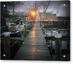Pier Light Acrylic Print by Brian Wallace