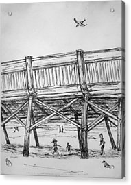 Pier Pressure Acrylic Print by Pete Maier