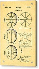 Pierce Basketball Patent Art 1929 Acrylic Print by Ian Monk