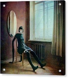 Pierrot Acrylic Print by Anka Zhuravleva