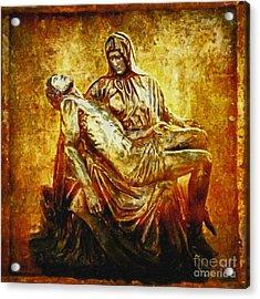 Pieta 2 Acrylic Print by Lianne Schneider
