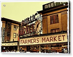 Pike Place Market - Seattle Washington Acrylic Print by David Patterson