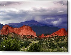 Pikes Peak Storm Acrylic Print by Rod Seel