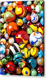 Pile Of Marbles Acrylic Print by Garry Gay