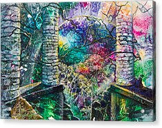Pillars At The Edge Of The World Acrylic Print by Patricia Allingham Carlson