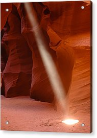 Piller Of Light Acrylic Print by Carl Nielsen
