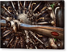 Pilot - Plane - Engines At The Ready  Acrylic Print by Mike Savad