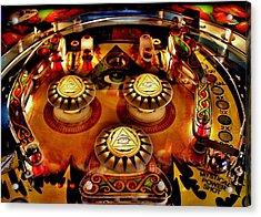 Pinball All Seeing Eye Acrylic Print by Benjamin Yeager