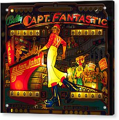 Pinball Machine Capt. Fantastic Acrylic Print by Terry DeLuco