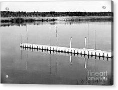 Pine Barrens Dock Acrylic Print by John Rizzuto