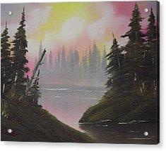 Pine Bay Acrylic Print by Caleb Mitchell