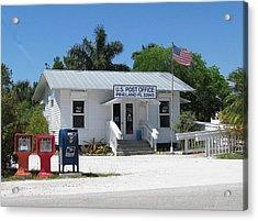 Pine Island Post Office Acrylic Print by Melinda Saminski