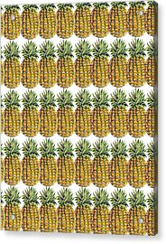 Pineapple Parade Acrylic Print by John Keaton