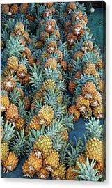 Pineapple Stall At Suva Municipal Acrylic Print by David Wall