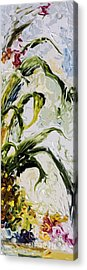 Pineapple Triptych Part 3 Acrylic Print by Ginette Callaway