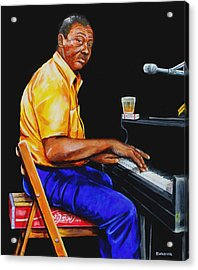 Pinetop Perkins Acrylic Print by Karl Wagner