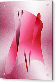 Pink Abstract Art Acrylic Print by Mario Perez