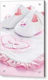 Pink Baby Girl Clothes Acrylic Print by Elena Elisseeva