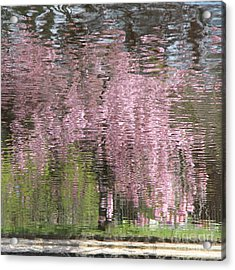 Pink Breeze Acrylic Print by Karin Ubeleis-Jones