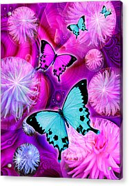 Pink Fantasy Flower Acrylic Print by Alixandra Mullins