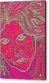 Pink Lady Acrylic Print by Mark Moore
