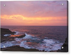 Pink Oahu Sunrise - Hawaii Acrylic Print by Brian Harig
