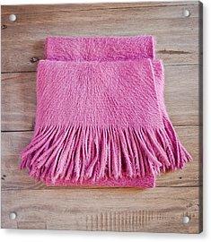 Pink Scarf Acrylic Print by Tom Gowanlock
