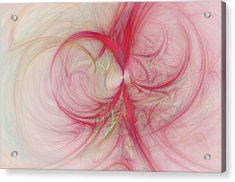 Pink Swirls Acrylic Print by David Ridley