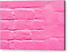 Pink Wall Acrylic Print by Tom Gowanlock